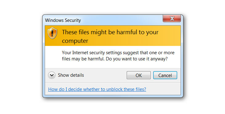 "Disabling the ""These files might be harmful to your computer"" warning in Windows"