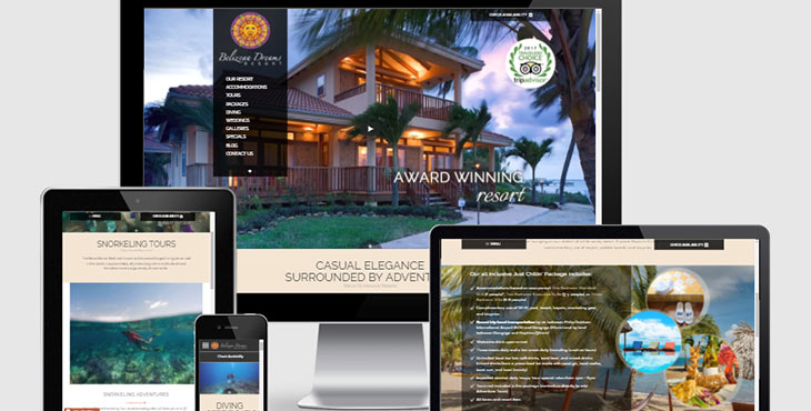 Belize website design belizean dreams