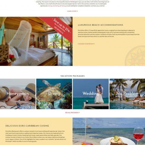 Belize website design - Portofino