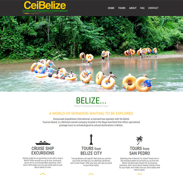 Belize website design - CEI Belize