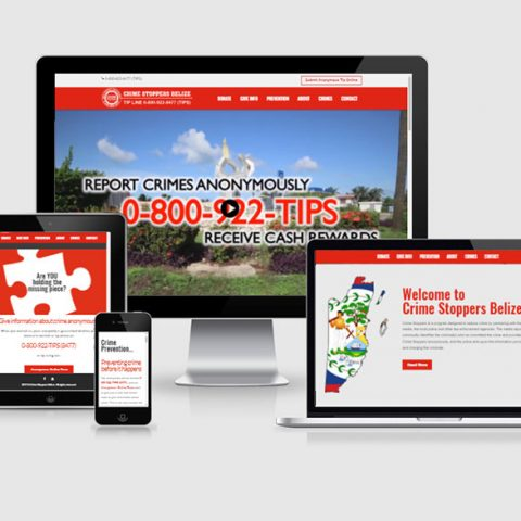 Belize website design - Crime Stoppers Belize