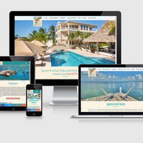 Belize website design - Iguana Reef Inn