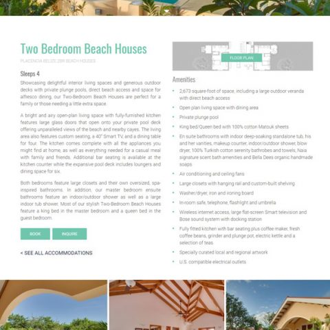 Belize website design - Naia Resort
