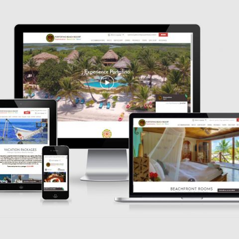 Belize website design - Portofino