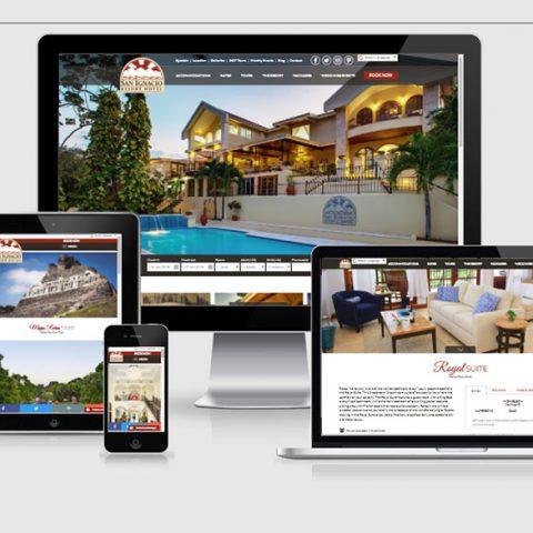 Belize website design -San Ignacio Resort Hotel